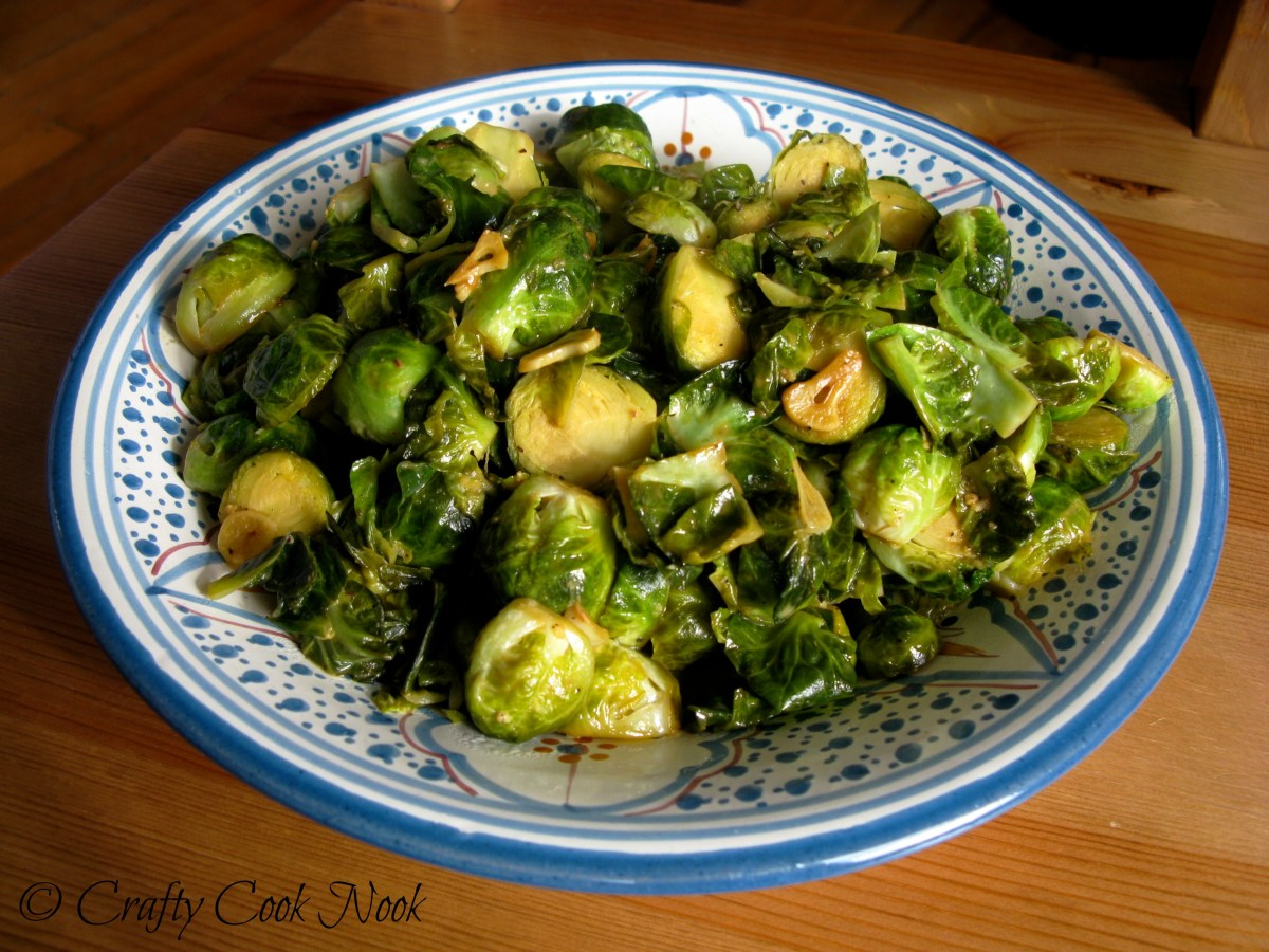 Last-minute Thanksgiving Dish Idea: Stir-fried Brussels Sprouts with Umami Sauce