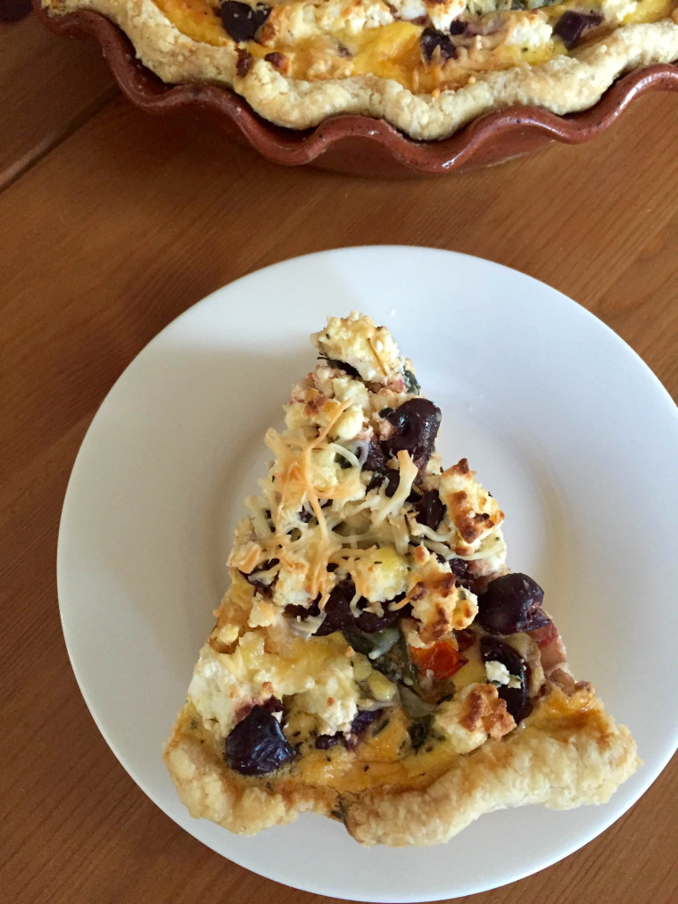 'Time After Time' Greek Cauliflower and Spinach Quiche