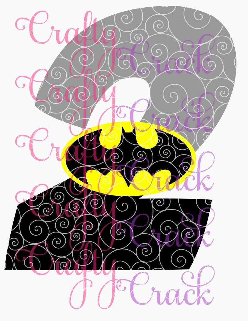 Download Batman 2nd Birthday SVG, DXF, PNG - Digital Download for ...