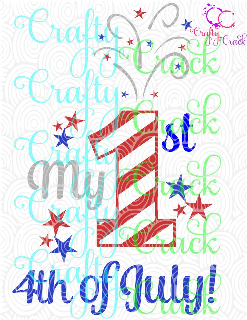 Download My 1st 4th of July SVG, DXF, PNG - Digital Download for ...