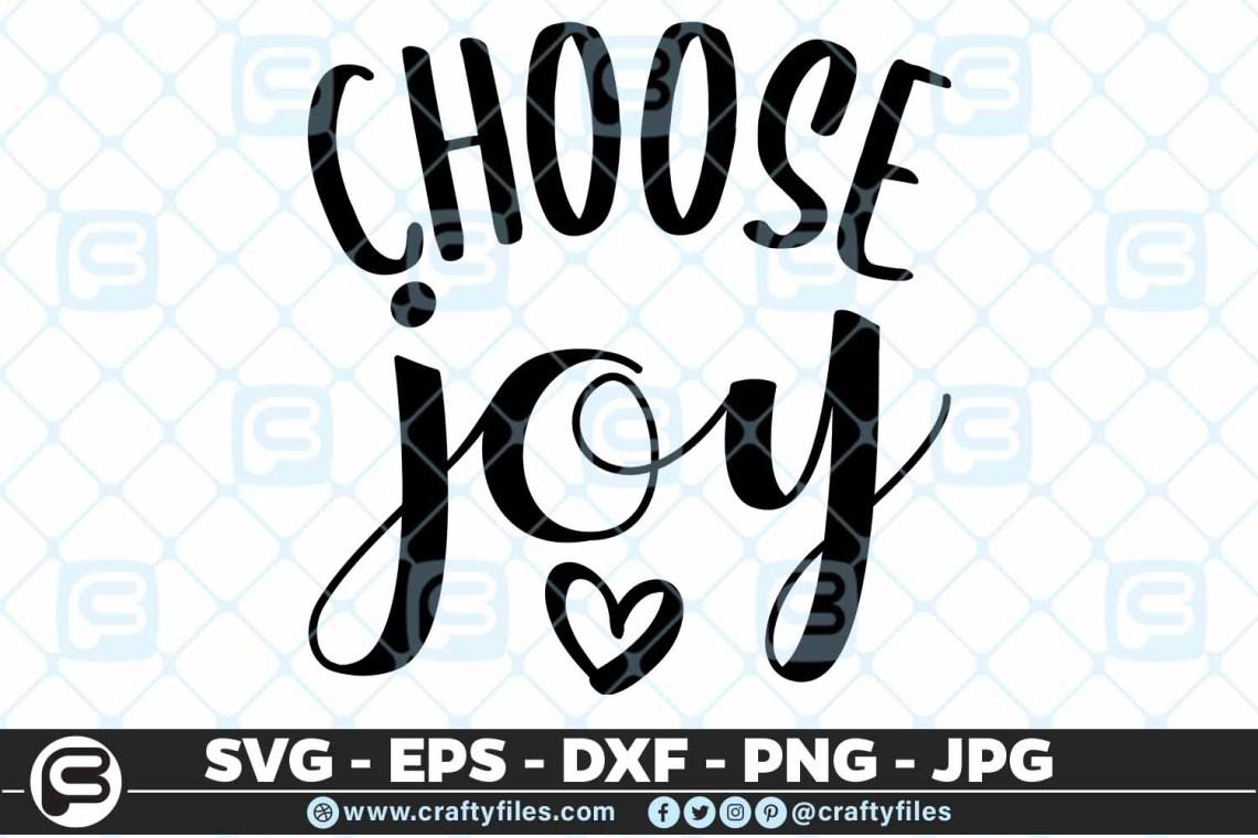 Download Choose Joy, Cutting File, SVG, PNG, EPS   Crafty Files