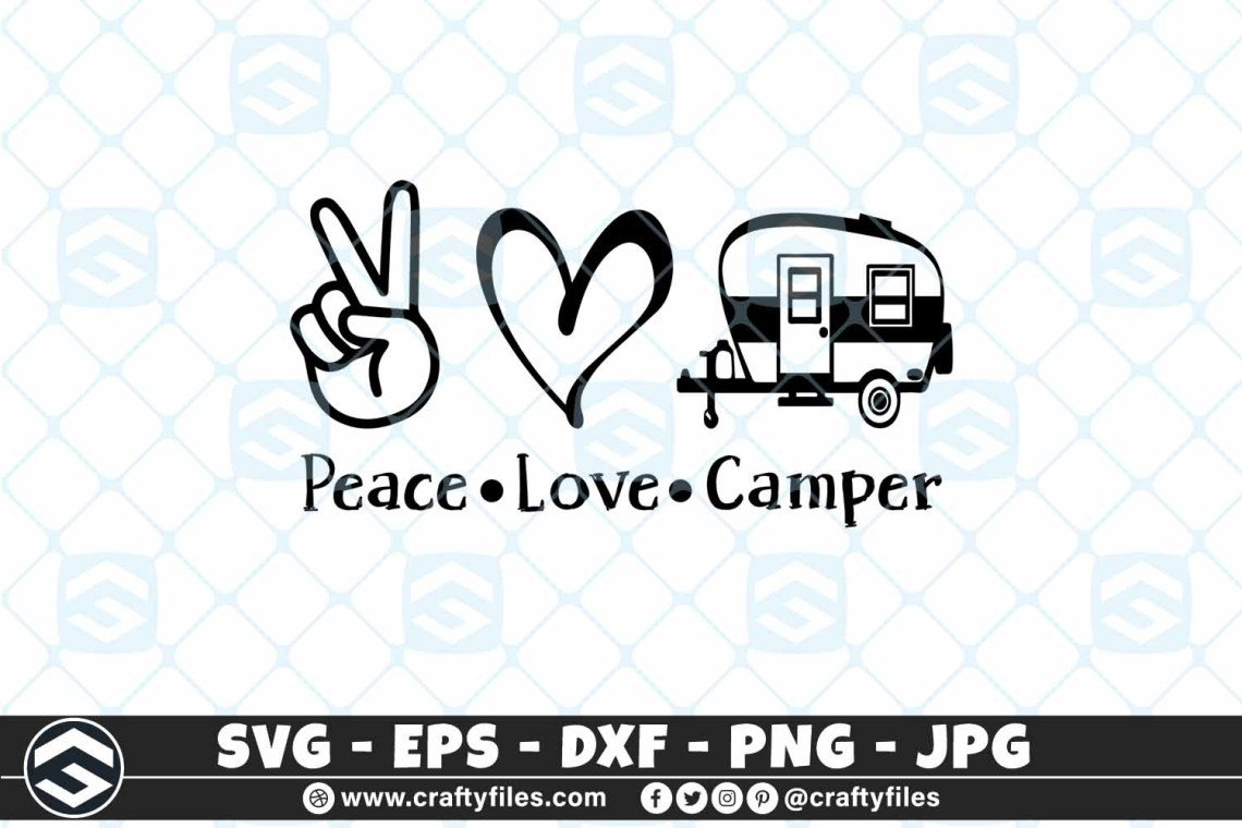 Download Peace Love Camper SVG Outdoor Camping SVG Adventure ...