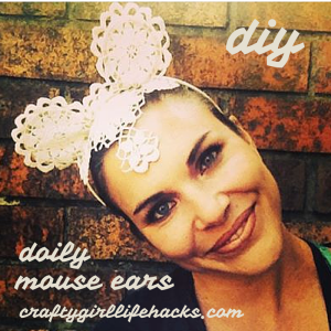 DIY Doily Mouse Ears