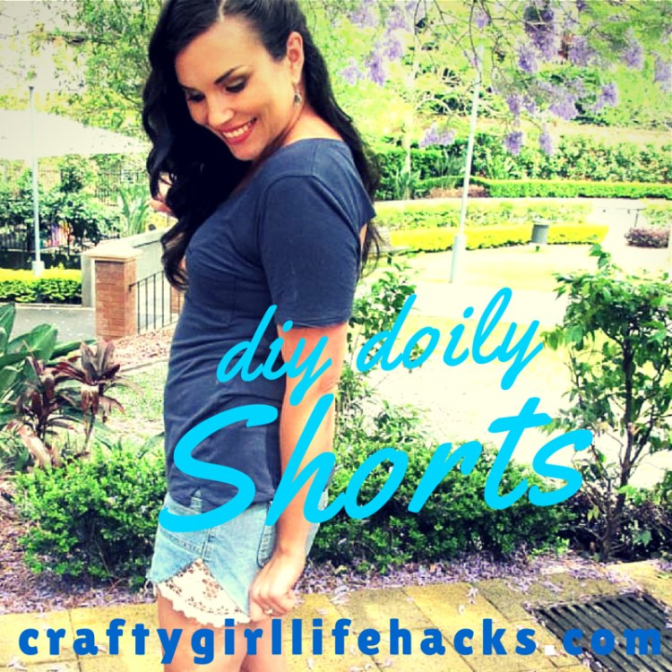How To Make Doily Denim Shorts