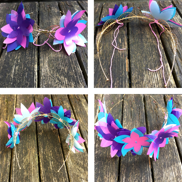 DIY Plastic Bottle Flower Crown