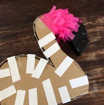 DIY Flamingo Piñata 7