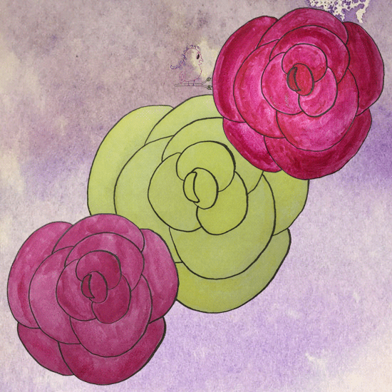 Rose Drawing -- Visit CraftyJBird.com for more info...