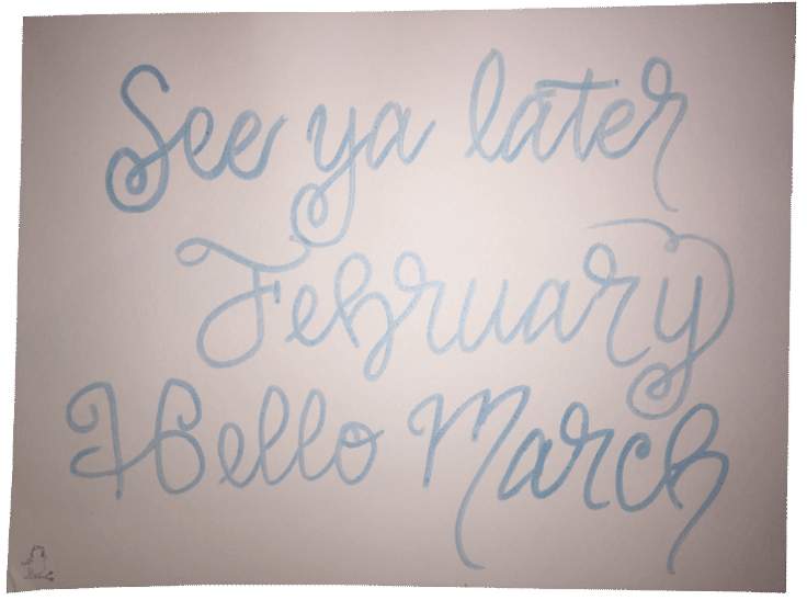 See Ya Later February, Hello March -- Visit CraftyJBird.com for more info...