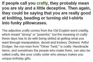 craftydef from volcabulary