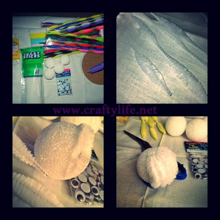 bunny and chick styrofoam my crafty life 1