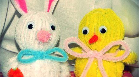 Styrofoam Bunny-Chick Craft Project #kidscrafts