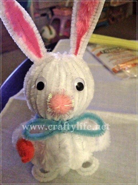 final bunny styrofoam bunny my crafty life 1-2
