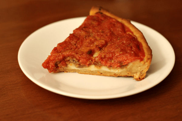 Ritz Crackers Chicago Style Deep Dish Pizza