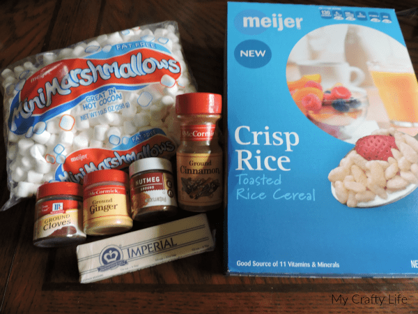 Gingerbread Man Rice Crispie - 1