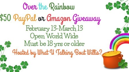 Over the Rainbow $50 PayPal or Amazon #Giveaway ends March 13th.