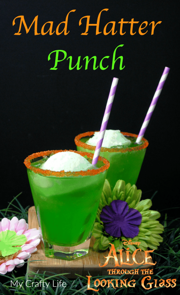 Mad Hatter Punch - nonalcoholic refreshing, fruity drink perfect for parties.