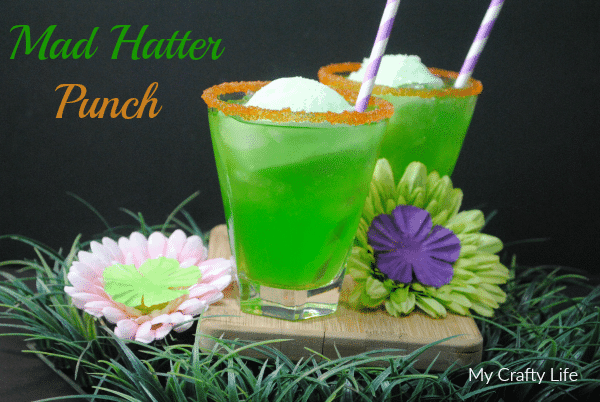 MadHatter Punch - nonalcoholic refreshing, fruity drink perfect for parties.