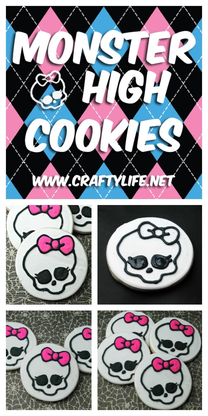 Monster High Cookie Recipe - Adorable and tasty Monster High cookies for your next party or sleepover!