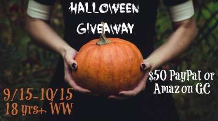 Halloween Giveaway – $65 PayPal cash or Amazon Gift Card