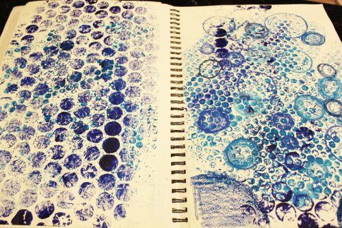 bubble-wrap-painting
