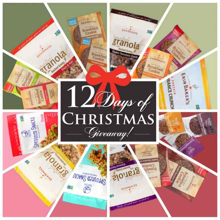 Do something fun for a chance to win some tasty Erin Baker's products during the Erin Baker's 12 Days of Christmas