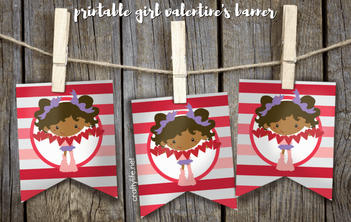 Print out these adorable little girl banners to add a dash of cute to any party. They would be perfect for a Valentine's Party or any little girl bash!