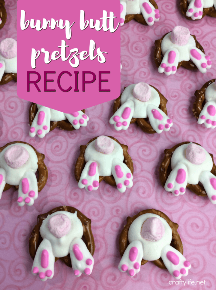Bunny Butt Pretzels Recipe - Adorable and yummy all at the same time! You'll be amazed at how easy it is!!