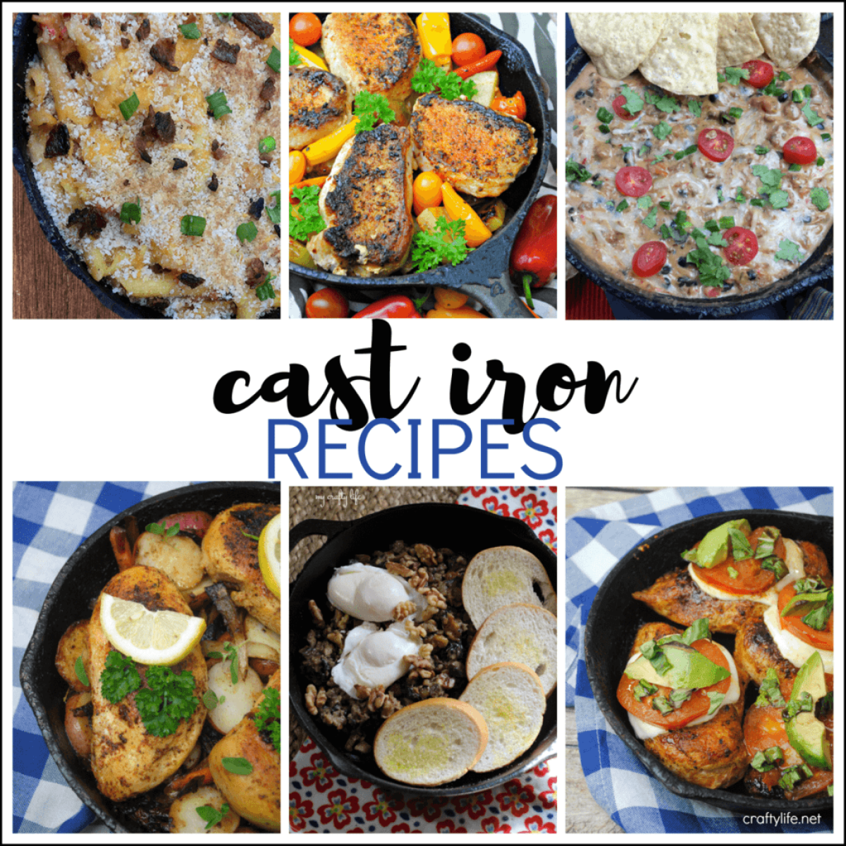 Make flavorful cast iron recipes in your fantastic, versatile cast iron cookware. Once you try it, you will never go back!
