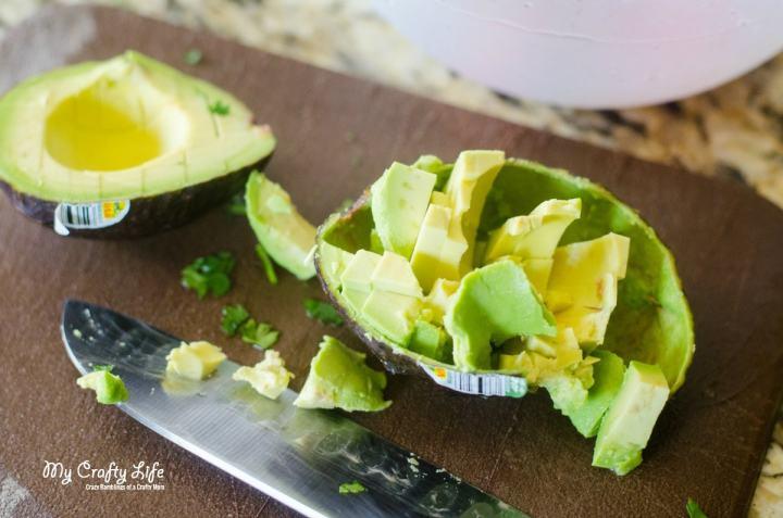 BLT Key Lime Stuffed Avocados