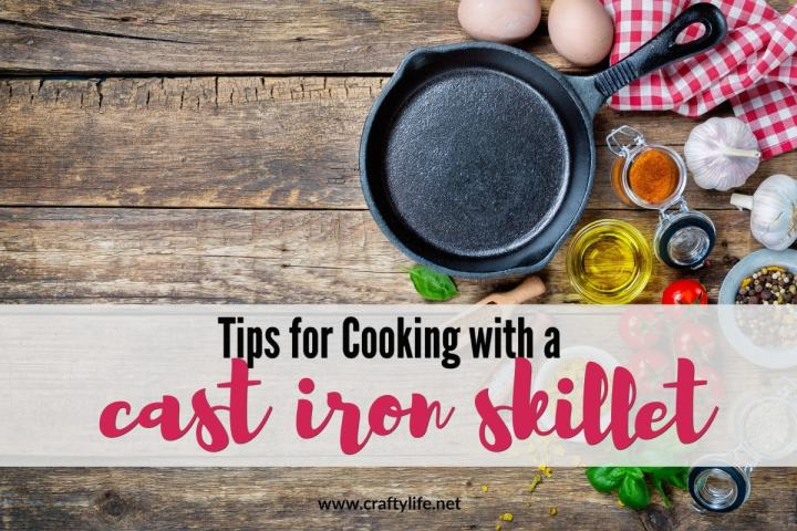 Cooking with a cast iron skillet