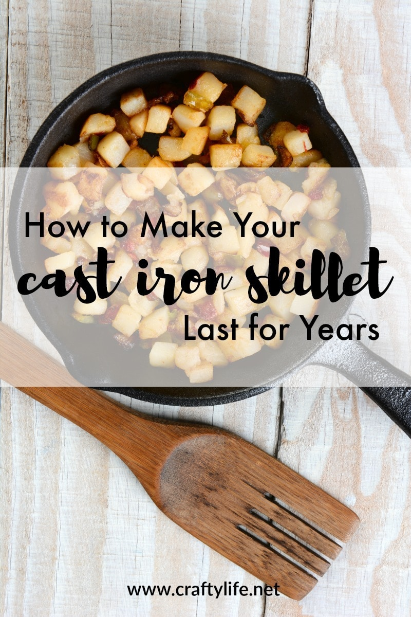 When taking care of properly a cast iron skillet can last years and even be handed down to the next generation, your children. Here are some tips to help you make sure your cast iron last for years to come.