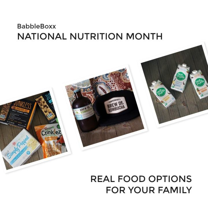 Celebrate National Nutrition Month - find out what new snacks we found in this month's Babbleboxx that have quickly become new favorites!