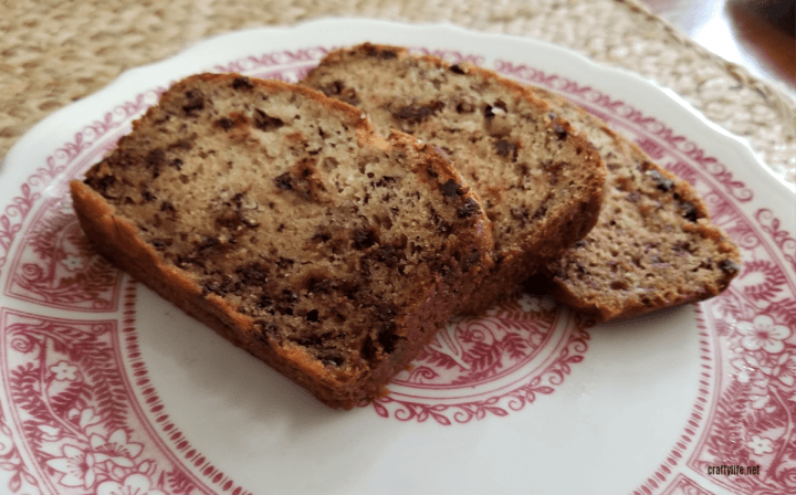 Banana Chocolate Chip Loaf Recipe - #BakeItHappen