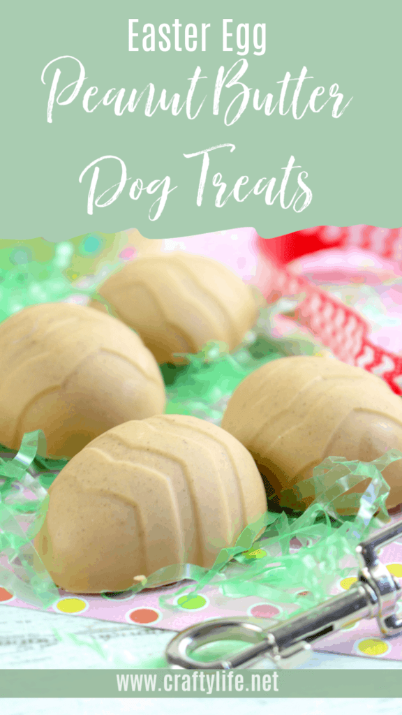 Peanut Butter Dog Treat Eggs for Easter