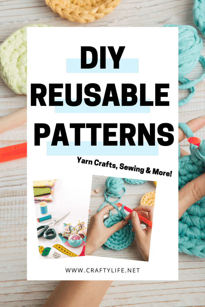 Reusable items are essential right now and I have found quite a few that will make your life easier! Patterns range from easy to hard.