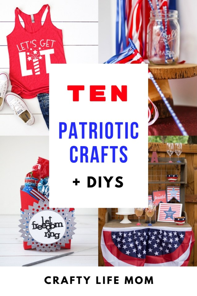 Get ready for the 4th of July with these patriotic crafts and DIYs. Super fun simple and easy ideas for you to wear and decorate