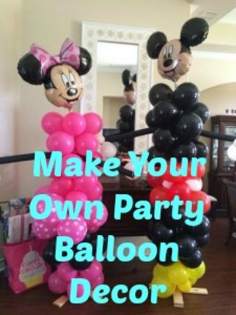 make your own party balloon decor