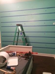 striping the walls