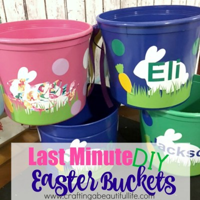 Last Minute DIY Easter Buckets