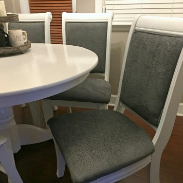Chalk Paint dining chairs