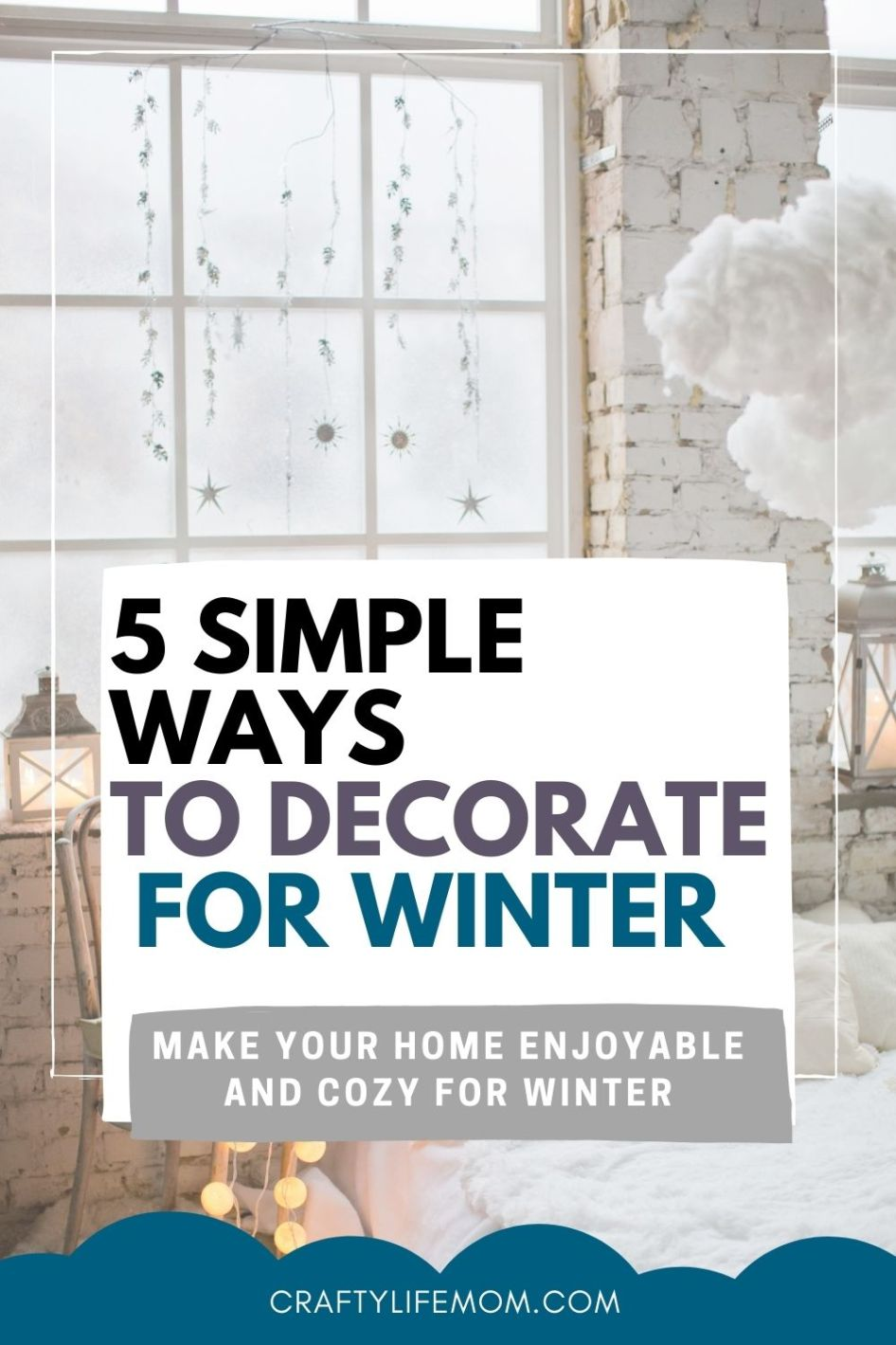 Decorate your home for Winter without Christmas decor and still have a fun cozy winter vibe in your home with these five easy tips and ideas. Make your home enjoyable and cozy for the winter months with these simple tricks.