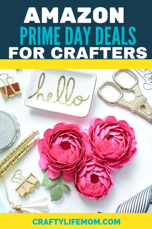Amazon Prime Day Deals for Crafters! Don't Miss out on these awesome deals for Amazon Prime Members! THe lowest prices on all crafting tools, machines and equipment. #cricut #silhouette #craftertools #amazonprimedeals