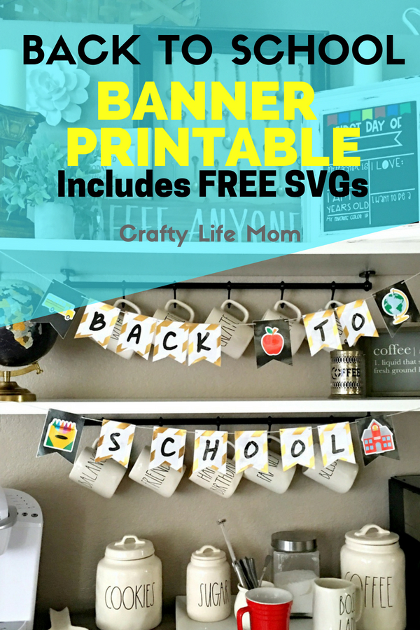 Back To School Banner Printable and SVG and Cut File