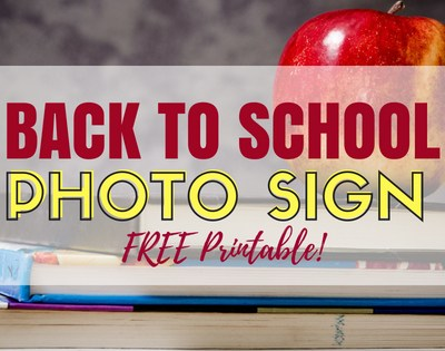 Back To School Sign Printable