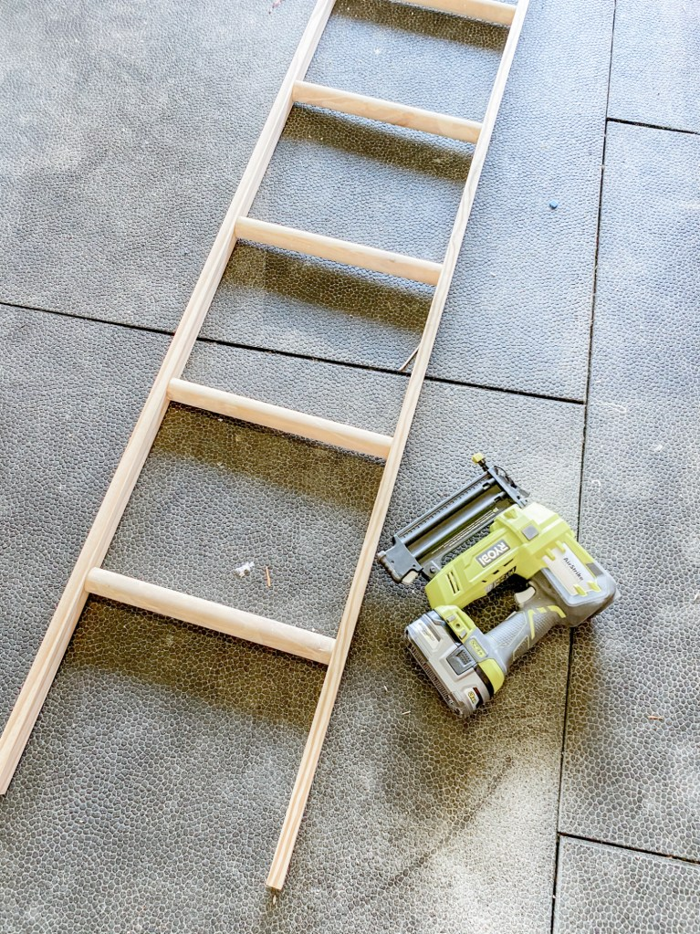 Building a farmhouse ladder.