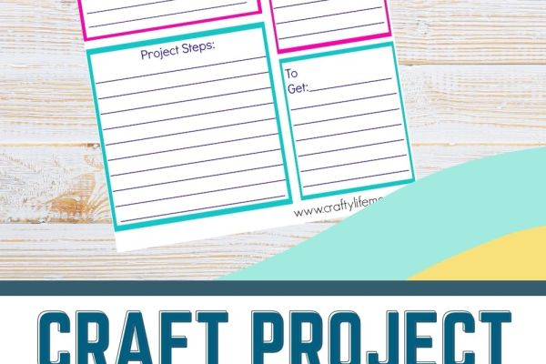 Free Craft Project Planner printable to help you create and plan all of your crafts & DIYs. Download for Free today!