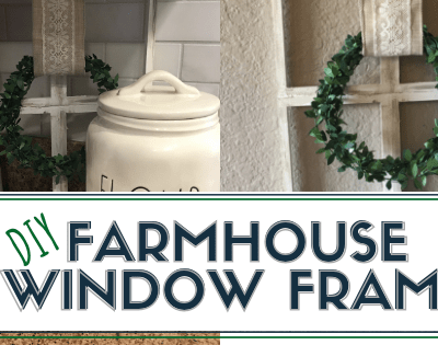 Dollar Tree DIY Farmhouse Window Frame Decor