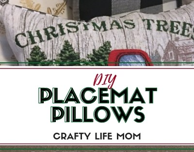 DIY Placemat Pillow for Christmas