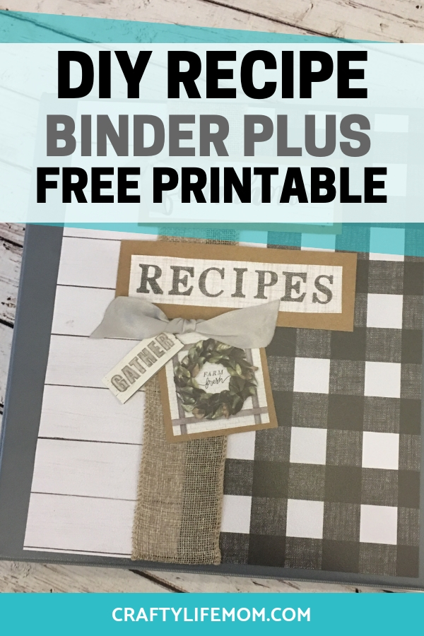 photograph relating to Free Printable Recipe Binder Kit titled Do it yourself recipe binder and totally free printable towards prepare all of your