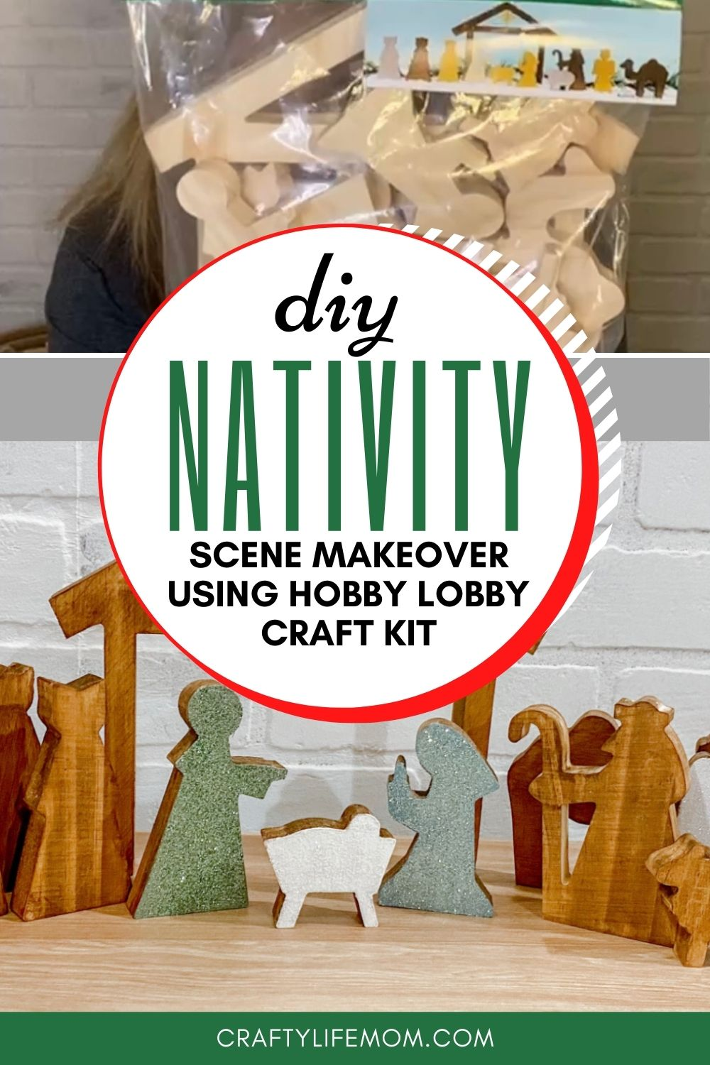 Create your own DIY Wooden Nativity scene using this adorable kit form Hobby Lobby. This tutorial shows you how to makeover this wooden set.